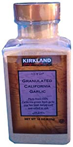 Kirkland Signature Granulated California Garlic 18 oz