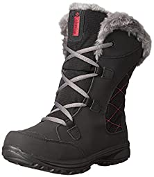 Columbia Youth Ice Maiden Lace Winter Boot (Little Kid/Big Kid), Black, 3 M US Little Kid