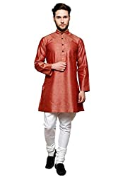 Dhrohar Silk Carrot Long Kurta for Men
