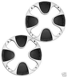 Imc Networks 12 -Inch Subwoofer 2 Grills Speaker Cover Grille Silver