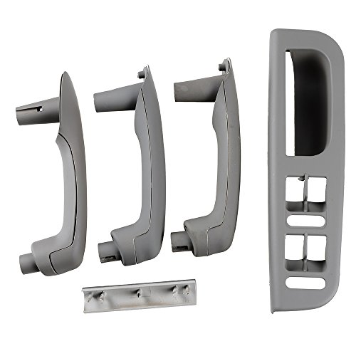 Gray Interior Door Grab Handle Cover Trim Window Switch Bezel Kit for 1999-2004 VW JETTA GOLF MK4 (Vw Jetta Door Handle Cover compare prices)