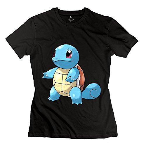 XY-TEE Women's Short Sleeve Tee Pokemon Squirtle Black Size S (Razor Scooter Ninja Turtles compare prices)