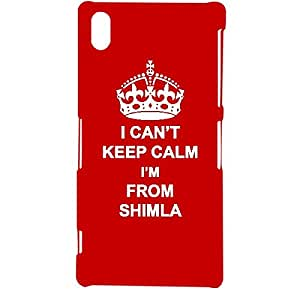 Skin4gadgets I CAN'T KEEP CALM I'm FROM SHIMLA - Colour - Red Phone Designer CASE for SONY XPERIA Z2 (L50w)