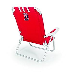 MLB Boston Red Sox Monaco Folding Beach Chair, Red
