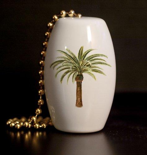 Tropical Palm Tree Porcelain Fan / Light Pull front-1003549