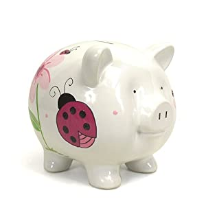 Child to Cherish Piggy Bank, Ladybug, Large
