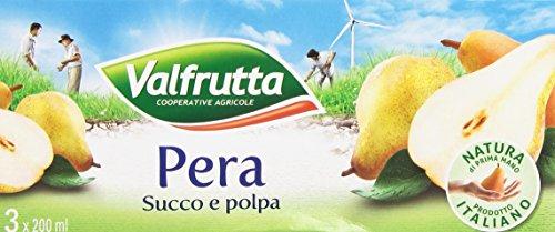 Valfrutta - Succo e polpa, Pera - 600 g  3 scatole