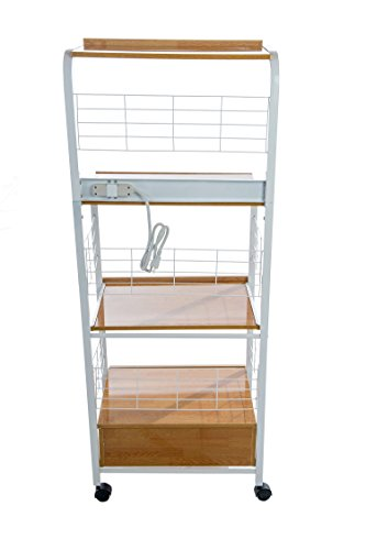 Home Source Industries 4397 Metal Microwave Cart With 2