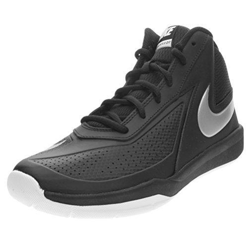 Nike Team Hustle D7 Gs, Scarpe da Basketball Bambini e Ragazzi, Multicolore (Black/Metallic Silver/White), 38 1/2 EU