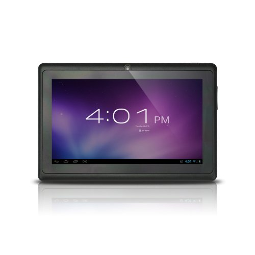 Alldaymall(TM) 7-inch Capacitive Touch Screen Android 4.0 Tablet PC with Allwinner A13 1.0GHz 512MB/4GB WiFi Front-camera (Black)