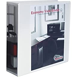 Office Impressions Easy Comfort Deluxe Plus D-Ring View Binder, 3\