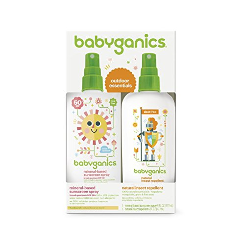 Babyganics-Mineral-Based-Baby-Sunscreen-Spray-SPF-50-6oz-Spray-Bottle-Natural-Insect-Repellent-6oz-Spray-Bottle-Combo-Pack