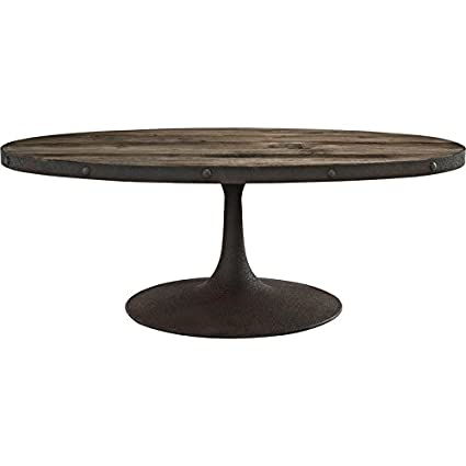 Modway EEI-1204-BRN-SET Drive Wood Top Coffee Table in Brown