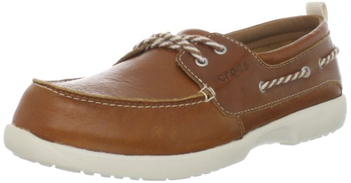 Crocs Women's Above Deck Boat Shoe,Cocoa/Stucco,9 M US