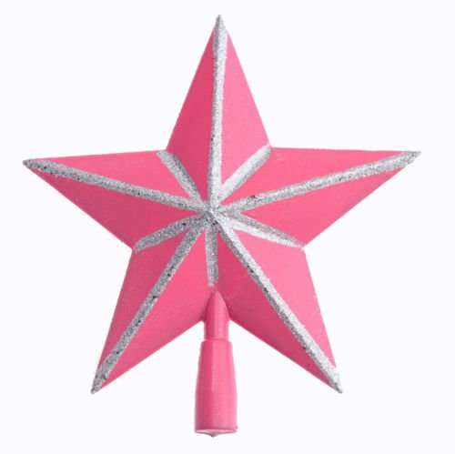 Pink and Silver Star Tree Topper