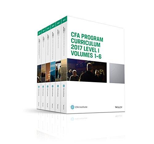 CFA Program Curriculum 2017 Level I, Volumes 1 - 6 (CFA Curriculum 2017) (Cfa Exam Level 1 compare prices)