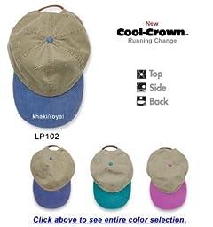 Adams Headwear 00820599097966 OPTIMUM-KHAKI W-CONTRAST BILL LP102 CORAL