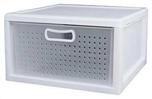 Sterilite 21108003 Deep Closet Drawer, White