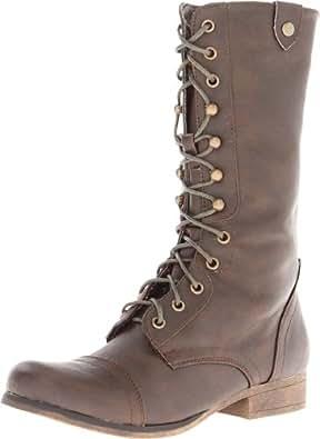 Madden Girl Women's Gemiini Boot,Brown Multi,6.5 M US