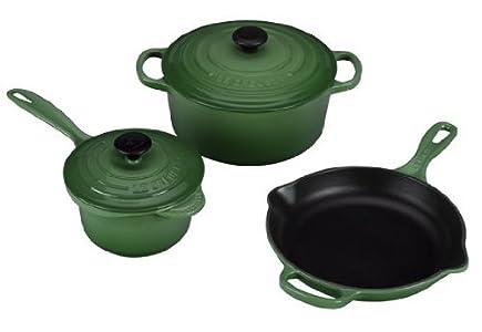 sale le creuset ms12051 69 signature cast iron 5 cookware set reviews hg 6