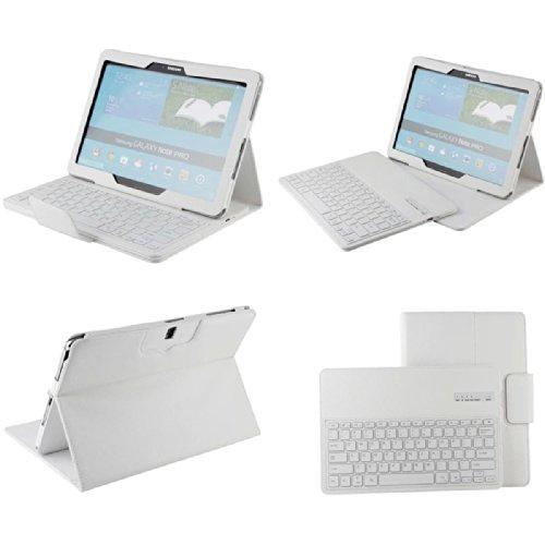 Etopxizu White Samsung Galaxy Note Pro 12.2 Bluetooth Keyboard Case - Wireless Bluetooth Keyboard Cover Case For Samsung Galaxy Note Pro 12.2 Sm-T900 Sm-T905 Sm-P900 Android Tablet