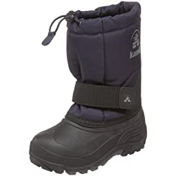 Kamik Rocket Wide Cold Weather Boot (Toddler/Little Kid/Big Kid),Navy,1 W US Little Kid