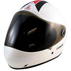 Triple 8 Racer II White Gloss Full Face Downhill Longboard Helmet Size L XL by Triple 8