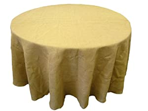 """Burlap Tablecloth 120"""" Round. Made in the USA. Exclusively By LA Linen ™"""