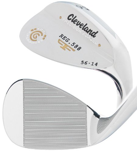 Cleveland Golf Men's 588 Forged Chrome Wedge (Right-Handed, 56 Degree, Steel Shaft)
