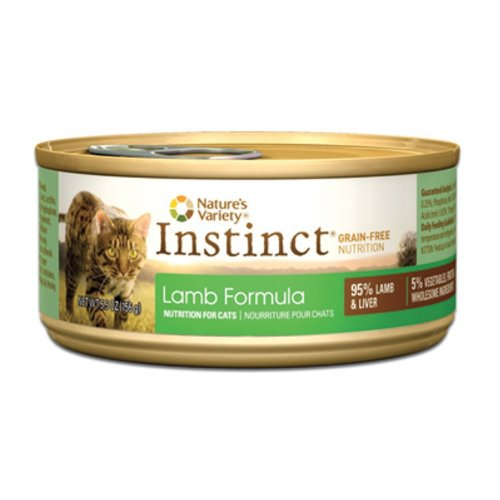 Instinct Grain-Free Lamb Formula Canned Cat Food by Nature's Variety, 5.5-Ounce Cans (Pack of 12)