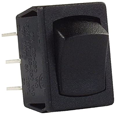 JR Products 12801-5 Mini Double Pole On/On 12V Black Switch - Pack of 5