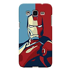 ColourCrust Samsung Galaxy J2 Mobile Phone Back Cover With Iron Man - Durable Matte Finish Hard Plastic Slim Case