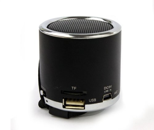 Susenstore New Mini Blue Light Stereo Fm Radio Tf Usb U Disk Mp3 Aux Music Speaker Player