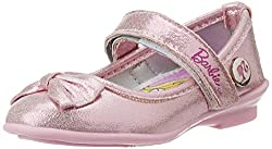 Barbie Girls Pink Ballet Flats - 5 UK/India (22 EU)
