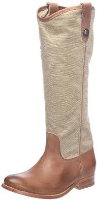 FRYE Women's Melissa Button Knee-High Boot Khaki/Tan Size 6