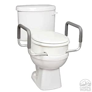 Toilet Seat Elevator with Handles Standard - B31700 Carex Health Brands