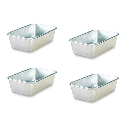 Nordic Ware Natural Aluminum Commercial Mini Loaf Pans, Four 2-Cup Pans (Bread Pan Commercial compare prices)