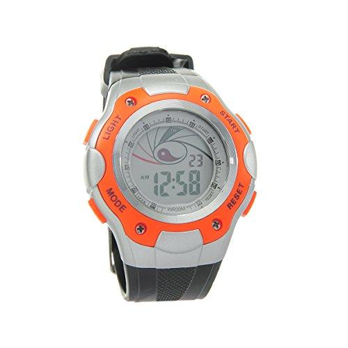 8Years - 1 Digitaluhr Armbanduhr Watch Stoppuhr Wasserdicht Orange