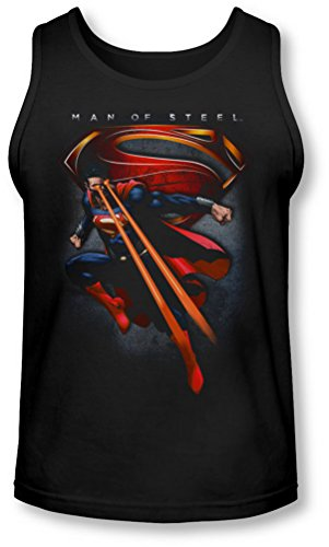 Uomo d'acciaio, da uomo, motivo: Superman-Canottiera simbolico Nero  nero