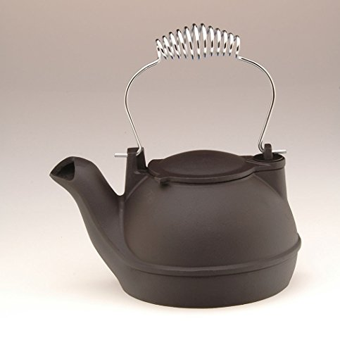Aluminum Humidifier (HK-BC) sends vapor out into room. MATTE BLACK FINISH WITH CHROME HANDLE (Kettle For Woodstove compare prices)