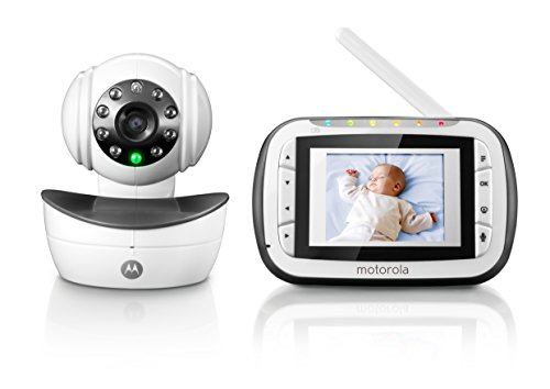motorola digital video baby monitor with video 2 8 inch color screen infrared night vision. Black Bedroom Furniture Sets. Home Design Ideas