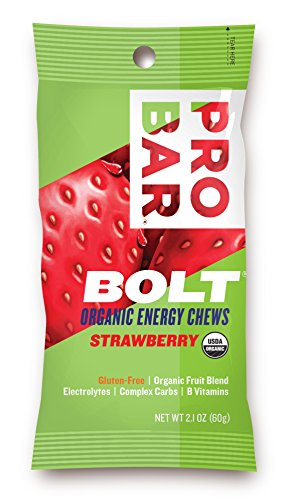 PROBAR BOLT Organic Energy Chews, Strawberry, 2.1 Ounce (Pack of 12) (Pro Energy compare prices)