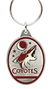 Phoenix Coyotes Hockey Pewter NHL Keychain