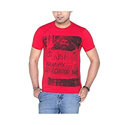 Menthol Men's Cotton T-Shirt (Mst_1089_Red_Medium)