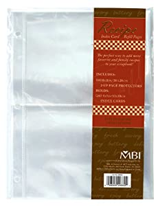 MBI Recipe 2-Up 5-Inch-by-7-Inch Refill Pages, 10-Pack, 20 Pockets