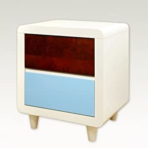 Paul Frank® Colors Nightstand White by Najarian Furniture Co.,Inc.