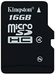 Kingston MicroSDHC 16GB Micro Class 4 Memory Card (SDC4/16GB)