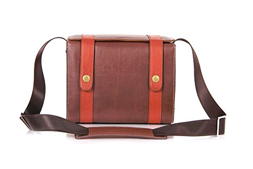 Nine States discount duty free Nine States Retro Synthetic Leather Durable Digital SLR Camera Bag Brown (K-309)