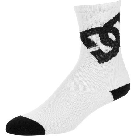 DC Lifted Sock - 3-Pack - Kids' White, 6.0-8.5