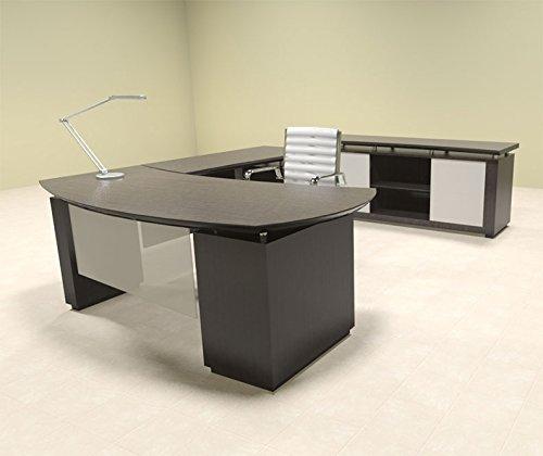 2pc Modern Contemporary L Shaped Executive Office Desk Set, #MT-STE-L6
